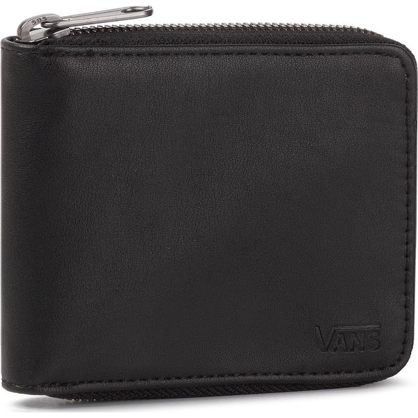 1db9dc798e471 Duży Portfel Męski VANS - Mn Drop V Zip Wallet VN0A31JABLK1 Black ...