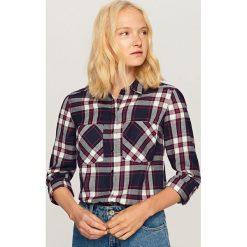 Koszula w kratę - Granatowy. Niebieskie koszule damskie Reserved. Za 79.99 zł.