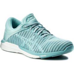 Buty ASICS - FuzeX Rush Adapt T885N Porcelain Blue/White/Smoke Blue 1401. Niebieskie obuwie sportowe damskie Asics, z materiału. W wyprzedaży za 349.00 zł.
