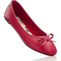 Baleriny bonprix jaskrawy czerwony. Czerwone baleriny damskie bonprix, z syntetyku. Za 49.99 zł.