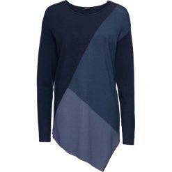 Sweter w kontrastowym połączeniu kolorów bonprix niebieski wzorzysty. Swetry damskie marki KALENJI. Za 79.99 zł.