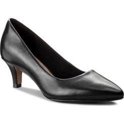 Półbuty CLARKS - Linvale Jerica 261372084  Black Leather. Czarne półbuty damskie Clarks, z materiału, eleganckie. W wyprzedaży za 229.00 zł.