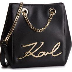 Torebka KARL LAGERFELD - 86KW3077 Black/Gold 997. Czarne torebki do ręki damskie KARL LAGERFELD, ze skóry. Za 1,239.00 zł.