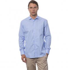 Koszula w kolorze błękitnym. Niebieskie koszule męskie Roberto Cavalli, Trussardi, w kratkę, z klasycznym kołnierzykiem. W wyprzedaży za 199.95 zł.