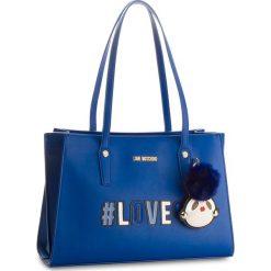 Torebka LOVE MOSCHINO - JC4070PP16LK0500 Blu. Niebieskie torebki do ręki damskie Love Moschino, ze skóry ekologicznej. W wyprzedaży za 729.00 zł.