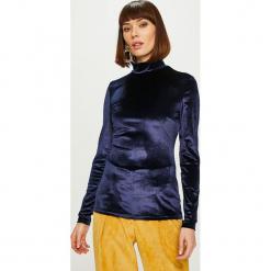 Answear - Bluzka Heritage. Szare bluzki damskie ANSWEAR, z dzianiny, casualowe, z golfem. Za 89.90 zł.