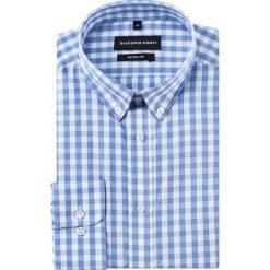 Koszula SIMONE KDWR000232. Białe koszule męskie Giacomo Conti, z bawełny, button down, z długim rękawem. Za 149.00 zł.