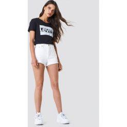 Levi's T-shirt The Perfect Sportswear - Black. Czarne t-shirty damskie Levi's, z nadrukiem, z bawełny, z okrągłym kołnierzem. Za 80.95 zł.