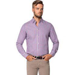 Koszula w Kratę Debora. Białe koszule męskie LANCERTO, na jesień, w kolorowe wzory, z bawełny. Za 299.90 zł.