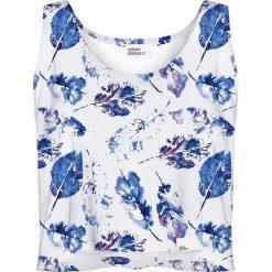 Colour Pleasure Koszulka damska CP-035 154  biało-niebieska r. XS/S. Bluzki damskie marki Colour Pleasure. Za 64.14 zł.