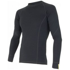 Sensor Koszulka Termoaktywna Z Długim Rękawem Merino Df M Black L. Czarne koszulki sportowe męskie Sensor, z materiału, z długim rękawem. Za 215.00 zł.