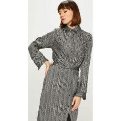 Answear - Sukienka. Szare sukienki damskie ANSWEAR, z tkaniny, casualowe. Za 149.90 zł.