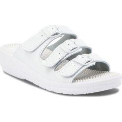 Klapki SANITAL-FLEX - KF-03 Biały. Białe klapki damskie Sanital-Flex, z materiału. Za 79.00 zł.
