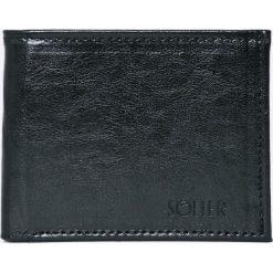 Solier - Portfel skórzany. Czarne portfele męskie Solier, z materiału. W wyprzedaży za 79.90 zł.