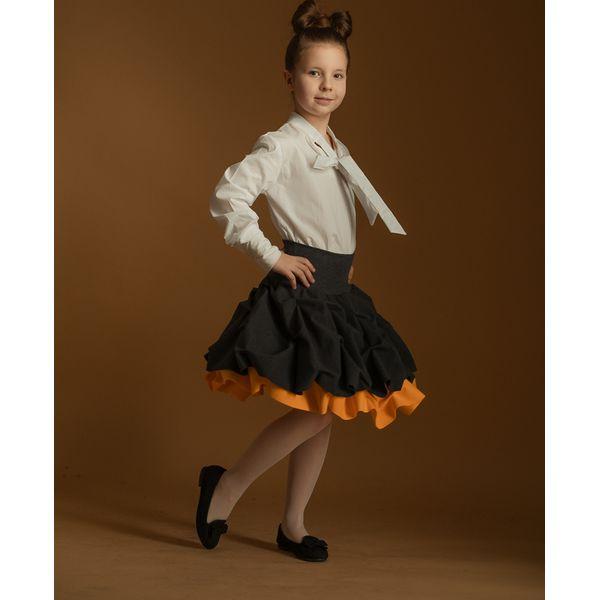 8344fb38 Spódnica podwójnie spieniona dziecięca mandarynkowa