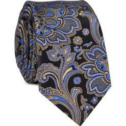 Krawat jedwabny KWWR000344. Czarne krawaty i muchy Giacomo Conti, z jedwabiu. Za 129.00 zł.