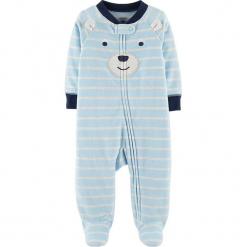 Śpioszki w kolorze niebieskim. Niebieskie śpioszki niemowlęce marki Carter´s. W wyprzedaży za 42.95 zł.