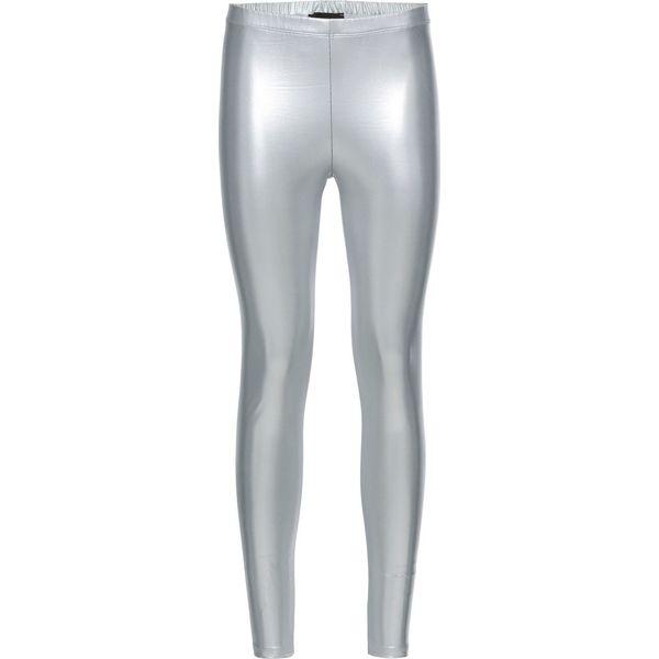 114d6c9535cb45 Legginsy z połyskującego materiału bonprix srebrny metaliczny ...