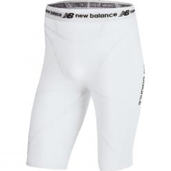 Szorty kompresyjne - MS710139WT. Szare krótkie spodenki sportowe męskie New Balance, z materiału. W wyprzedaży za 129.99 zł.
