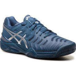 Buty ASICS - Gel-Resolution Novak Clay E806N Peacoat/Silver 400. Niebieskie buty sportowe męskie Asics, z materiału. Za 599.00 zł.