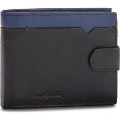 Duży Portfel Męski PIERRE CARDIN - Sahara Tilak14 324A Nero/Blue. Czarne portfele męskie Pierre Cardin, ze skóry. Za 125.00 zł.