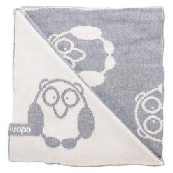 Zopa Kocyk Dziecięcy Little Owl, Grey. Szare kocyki dla dzieci Zopa, z bawełny. Za 119.00 zł.