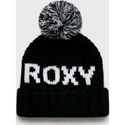 Roxy - Czapka. Czarne czapki i kapelusze damskie Roxy, z dzianiny. W wyprzedaży za 119.90 zł.