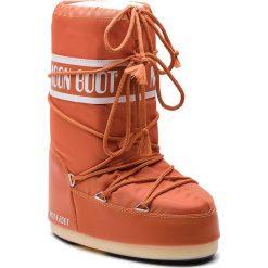 Śniegowce MOON BOOT - Nylon 14004400076 Orange M. Brązowe kozaki damskie Moon Boot, z materiału. Za 329.00 zł.