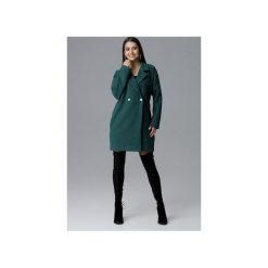 Płaszcz M625 Zielony. Zielone płaszcze damskie Figl, z tkaniny. Za 299.00 zł.