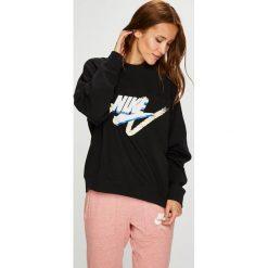 Nike Sportswear - Bluza. Brązowe bluzy damskie Nike Sportswear, z nadrukiem, z bawełny. W wyprzedaży za 239.90 zł.