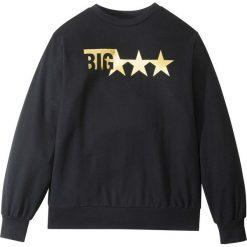 Bluza dresowa bonprix czarny z nadrukiem. Bluzy dla chłopców bonprix, z nadrukiem, z dresówki, z długim rękawem. Za 37.99 zł.