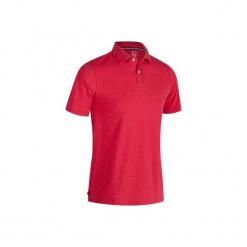 Koszulka polo do golfa 500 męska. Czerwone koszulki polo męskie INESIS, z bawełny. W wyprzedaży za 29.99 zł.