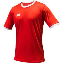 Koszulka treningowa - EMT6112HRD. Czerwone koszulki sportowe męskie New Balance, na jesień, z materiału. Za 89.99 zł.