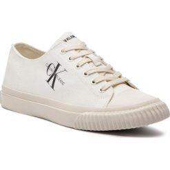 Trampki CALVIN KLEIN JEANS - Iaco Canvas S0593 Bright White. Białe trampki męskie Calvin Klein Jeans, z gumy. Za 469.00 zł.