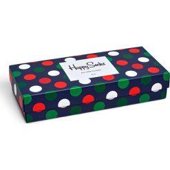 Happy Socks - Skarpety Holiday Big Dot Gift Box (4-pak). Szare skarpety męskie Happy Socks, z bawełny. W wyprzedaży za 99.90 zł.