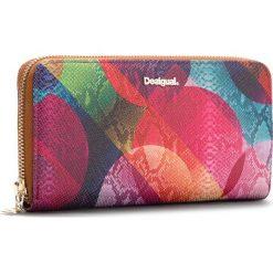 Duży Portfel Damski DESIGUAL - 18WAYP11 3016. Różowe portfele damskie Desigual, ze skóry ekologicznej. W wyprzedaży za 189.00 zł.