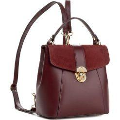 Plecak CREOLE - K10419 Bordo. Czerwone plecaki damskie Creole, ze skóry. W wyprzedaży za 219.00 zł.