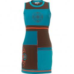 Sukienka w kolorze morskim. Niebieskie sukienki damskie Kéawa, z okrągłym kołnierzem. W wyprzedaży za 60.95 zł.