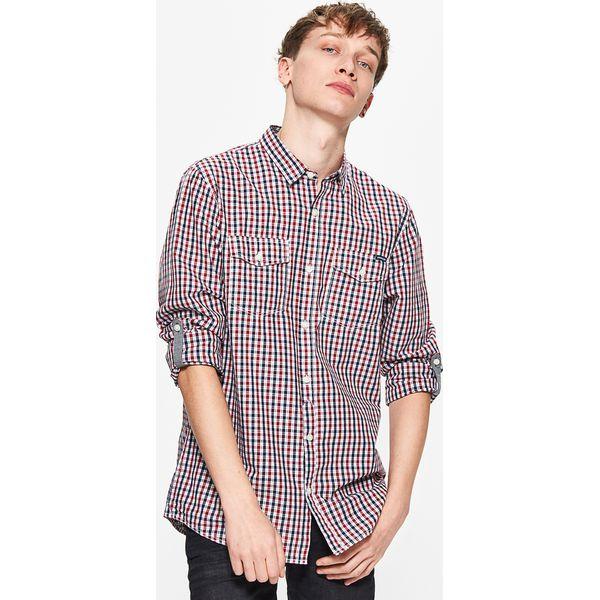 131da58c6b58ad Koszula w drobną kratę - Czerwony - Koszule męskie Cropp. W ...