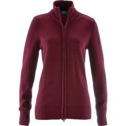 Sweter rozpinany bonprix czerwony klonowy. Kardigany damskie marki bonprix. Za 74.99 zł.