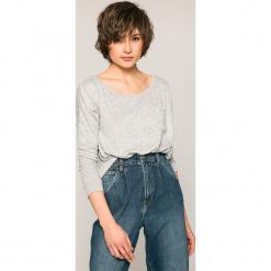 Roxy - Bluzka. Szare bluzki damskie Roxy, z dzianiny, casualowe, z okrągłym kołnierzem. W wyprzedaży za 129.90 zł.