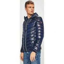 Guess Jeans - Kurtka. Szare kurtki męskie Guess Jeans, z aplikacjami, z jeansu. Za 729.90 zł.