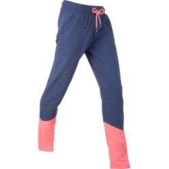 Spodnie dresowe, długie, z kolekcji Maite Kelly bonprix kobaltowo-łososiowy neonowy melanż. Niebieskie spodnie dresowe damskie bonprix, melanż, z dresówki. Za 74.99 zł.