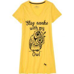 Koszula nocna bonprix złocisto-żółty z nadrukiem. Koszule nocne damskie marki MAKE ME BIO. Za 29.99 zł.