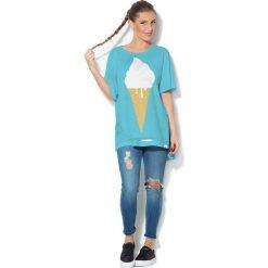 Colour Pleasure Koszulka CP-033  66 niebieska r. uniwersalny. Bluzki damskie Colour Pleasure. Za 76.57 zł.