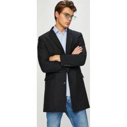 Trussardi Jeans - Płaszcz. Czarne płaszcze męskie TRUSSARDI JEANS, z jeansu, klasyczne. W wyprzedaży za 1,249.00 zł.