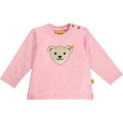 Bluza w kolorze jasnoróżowym. Bluzy dla niemowląt Steiff, z aplikacjami. W wyprzedaży za 47.95 zł.
