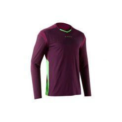 Koszulka bramkarska długi rękaw do piłki nożnej F500. Fioletowe bluzki z długim rękawem męskie KIPSTA. Za 59.99 zł.