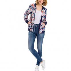 """Jegginsy """"Janelle"""" - Regular Fit - w kolorze niebieskim. Niebieskie legginsy damskie Cross Jeans, w paski. W wyprzedaży za 127.95 zł."""