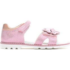 Różowe Sandały Little Queenie. Sandały dziewczęce marki bonprix. Za 59.99 zł.